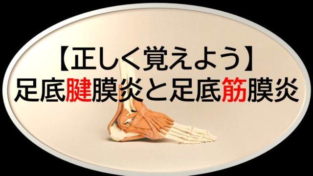 足底腱膜炎と足底筋膜炎【正しく覚えよう】